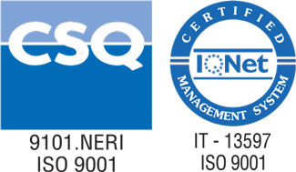 Certification of the quality system UNI EN ISO 9001